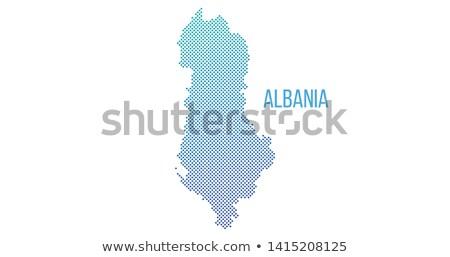 halftoon · vector · Albanië · kaart · uit - stockfoto © kyryloff
