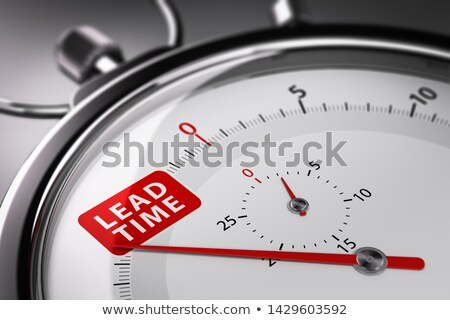 Lead Time Written on a Stopwatch. Supply Chain Management Concep Stock photo © olivier_le_moal