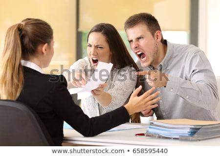 Ruim serviço banco escritório zangado homem Foto stock © jossdiim