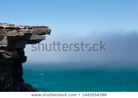 イーグル 岩 神秘的な 海 霧 周りに ストックフォト © lovleah
