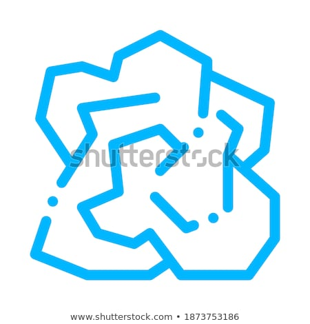 crumpled piece of paper vector thin line icon stock photo © pikepicture