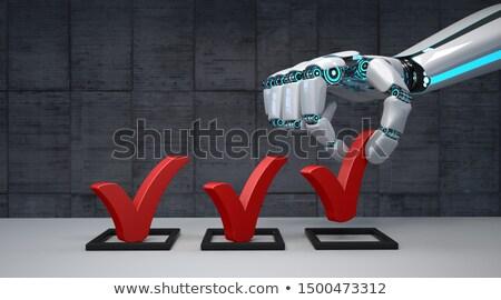 Humanoid Robot Hand Checklist Stock photo © limbi007