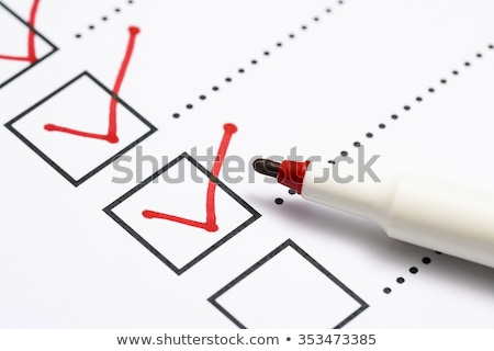 Question Mark Sign On Paper Document With Red Marker Stock photo © AndreyPopov
