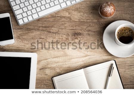 tanszerek · üres · papír · iskola · asztal · papír · toll - stock fotó © pressmaster