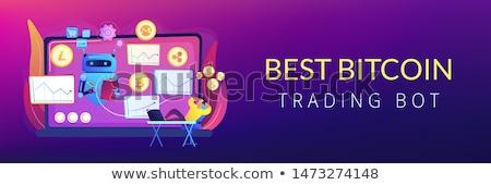 Crypto trading bot concept banner header Stock photo © RAStudio