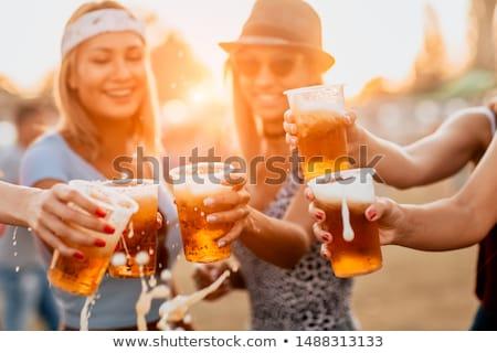ビール 祭り オクトーバーフェスト 少女 眼鏡 ホップ ストックフォト © jossdiim