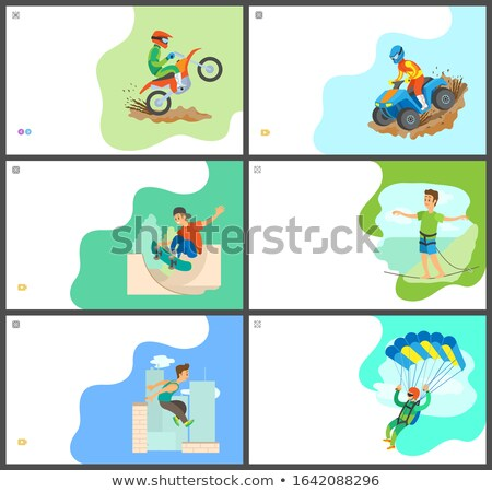 Skydiving and Highlining Man, Skateboarder Male Stock photo © robuart