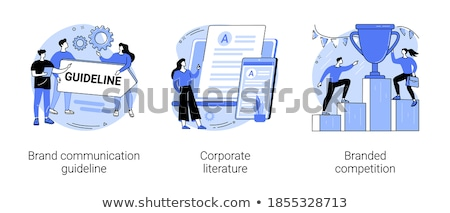 Corporate literature concept vector illustration. Stock photo © RAStudio