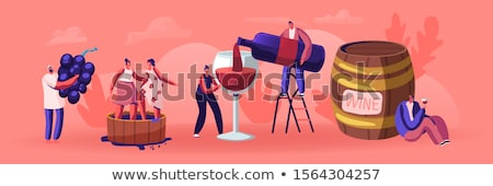 people and grapes wine drink beverage vector stock photo © robuart