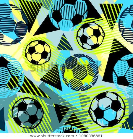 fútbol · partido · de · fútbol · volante · ilustración · plantilla · vector - foto stock © -talex-