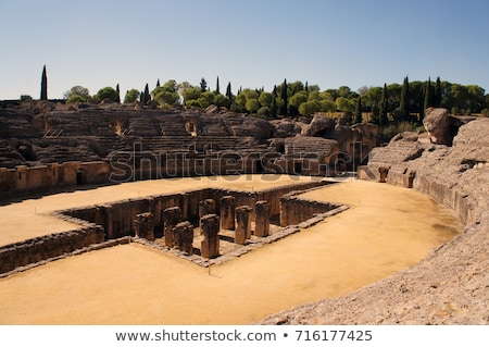 Roman amphitheater at Italica, Spain Stock photo © borisb17