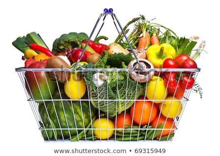 piros · műanyag · vásárlás · szerszám · szennyes · konténer - stock fotó © blotty