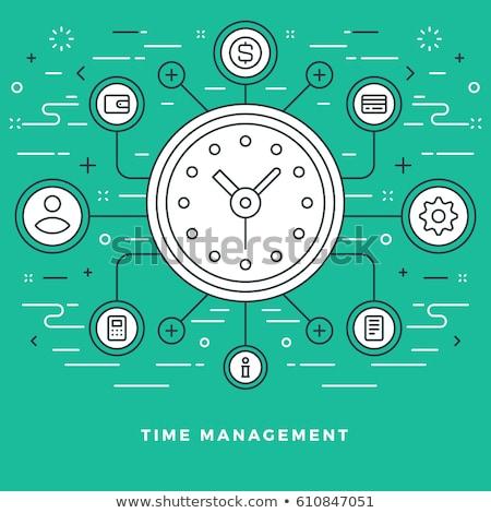 Időbeosztás szalag fejléc üzletember feladatok célok Stock fotó © RAStudio