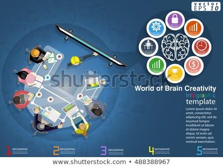 beyin · fırtınası · işadamı · grup · iletişim · güç - stok fotoğraf © rastudio