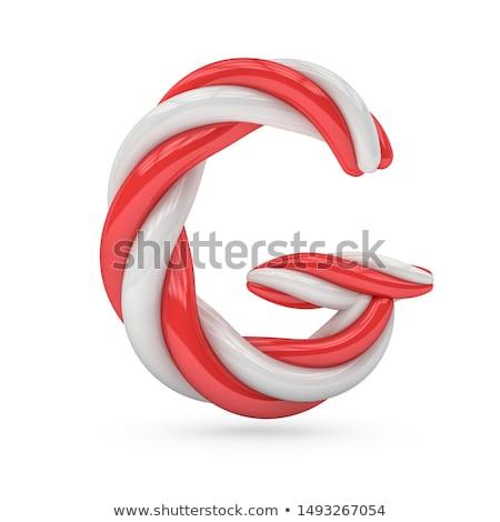 ünnep betűtípus g betű izolált ünnepi téli idény Stock fotó © Lightsource