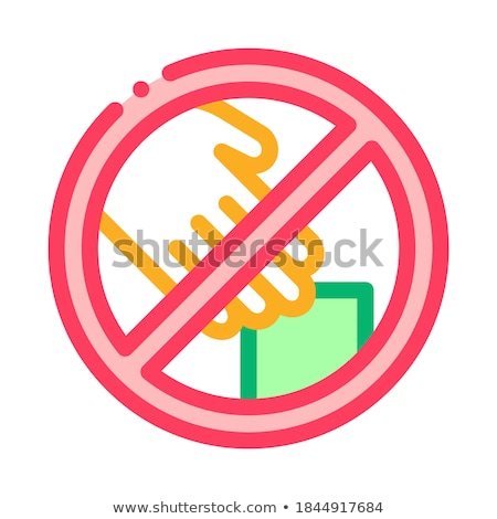 Shoplifting Prohibition Icon Vector Outline Illustration Stock photo © pikepicture