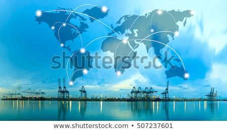 Internationale levering wereldwijd scheepvaart man vervoer Stockfoto © robuart