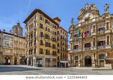Tér Spanyolország város központ ház épület Stock fotó © borisb17