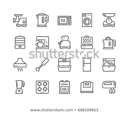 Mikrofala piekarnik kuchnia urządzenie gotowania wektora Zdjęcia stock © robuart
