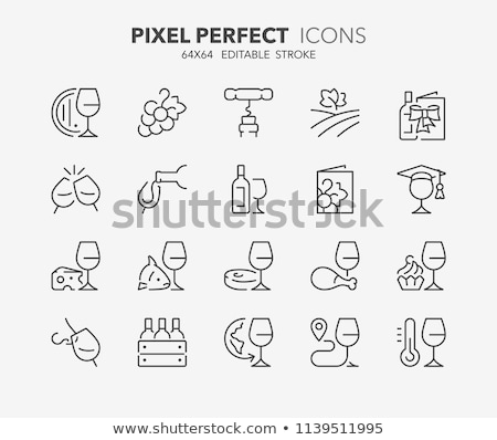 Sommelier Wine Tasting Collection Icons Set Vector Stock photo © pikepicture