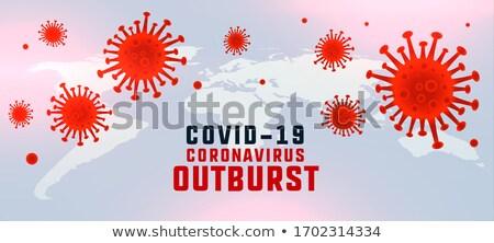 coronavirus covid19 disease outburst background with floating virus Stock photo © SArts