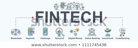 Fintech Innovation Minimal Infographic Banner Vector Stock photo © pikepicture