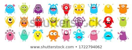Monstre couleur vecteur icônes utilisateur Photo stock © ayaxmr