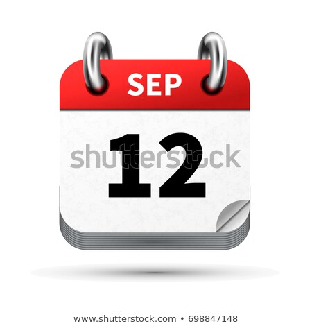 Bright realistic icon of calendar with 12 september date isolated on white Stock photo © evgeny89