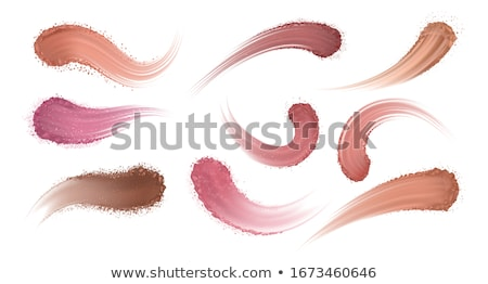 Powder Facial Skin Cosmetic Make-up Smear Vector Stock photo © pikepicture