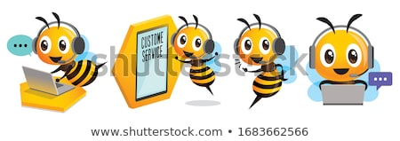 mel · de · abelha · trabalhando · dandelion · flor · amarelo · trabalhar - foto stock © ansonstock