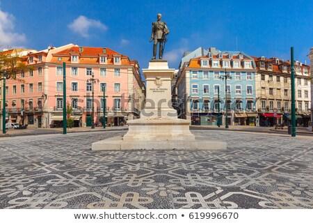 Vierkante centraal Lissabon treinstation oorlog Stockfoto © ribeiroantonio