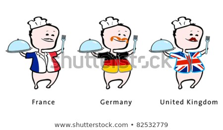 Chef of restaurant from France, Germany, UK - vector illustration  Stock photo © arzawen