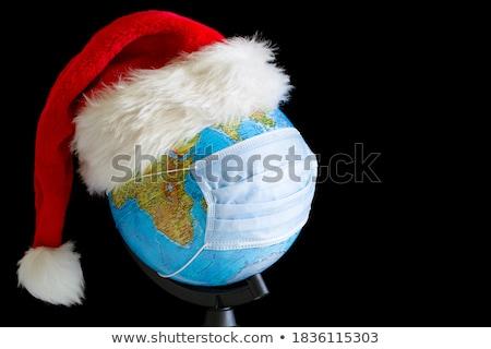 christmas · wereldbol · aarde · heldere · vrolijk · scène - stockfoto © lirch