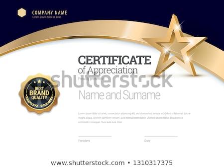 Sertifika şablon klasik çerçeve davetiye diploma Stok fotoğraf © ElaK