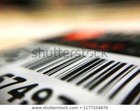 штрих · изолированный · белый · черный · финансовых · пакет - Сток-фото © get4net