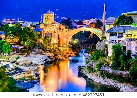 old stone bridge in mostar bosnia Stock photo © travelphotography