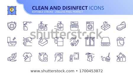 limpeza · trapo · detergente · spray · mancha · trabalhos · domésticos - foto stock © leeser