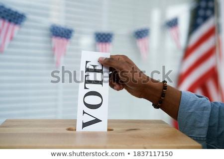 стороны голосование изолированный белый вечеринка человека Сток-фото © ashumskiy