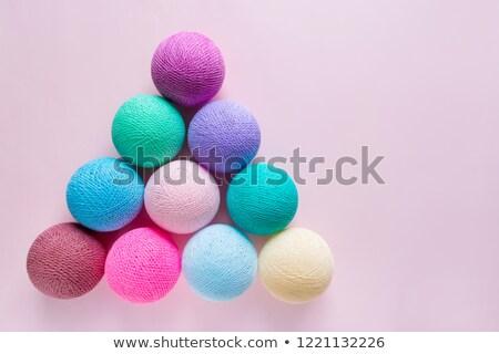 Trees balls and pyramid Stock photo © mariephoto