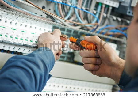 Electrician wiring a building Stock photo © photography33