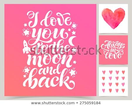 amor · 3D · cartas · vermelho · coração · branco - foto stock © marinini