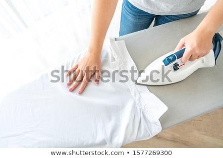 электрических · железной · одежды · белый · женщину · фон - Сток-фото © photocreo