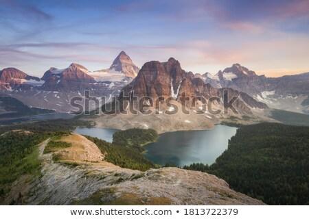 Lac montagnes péninsule Alaska été neige Photo stock © wildnerdpix