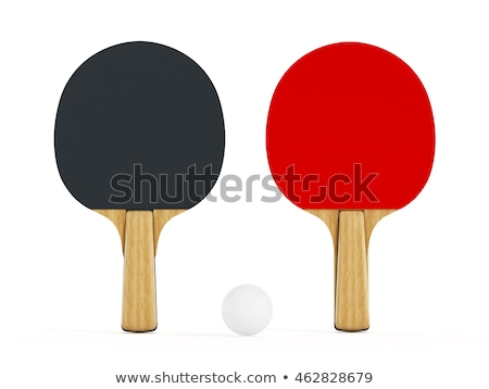 Table tennis racket and ball isolated Stock photo © ozaiachin