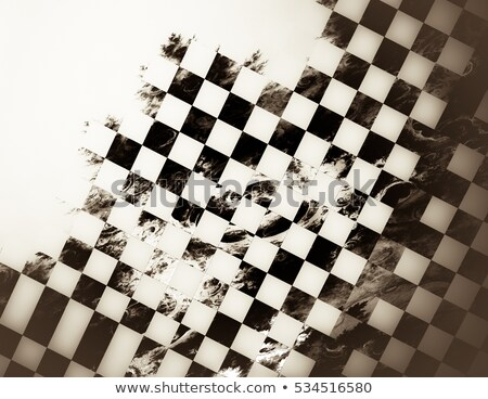 Stock photo: checkers duel