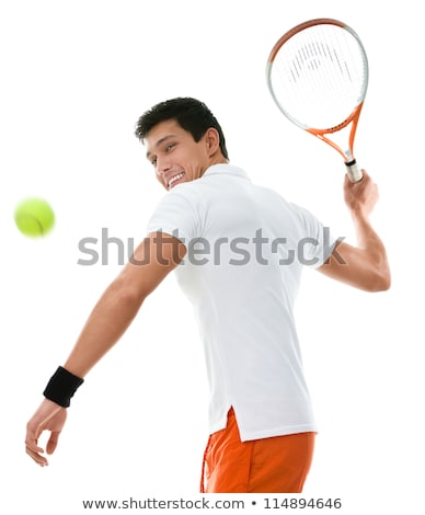 studio portrait of a pretty young tennis player stock photo © lightpoet