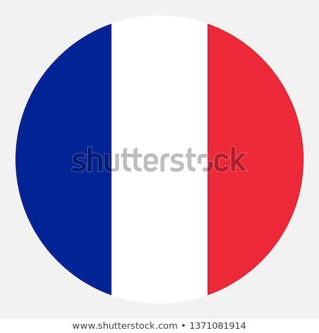 Fransa · bayrak · ikon · yalıtılmış · beyaz · dünya - stok fotoğraf © zeffss