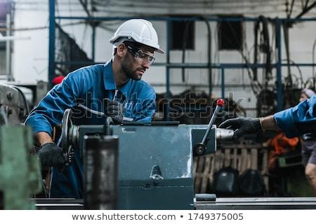 Сток-фото: рабочих · Cartoon · иллюстрация · шесть · работу