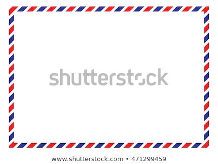 Aria mail timbro lettera Foto d'archivio © Stocksnapper