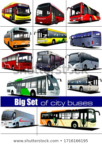 grande · conjunto · cidade · turista · treinador · ônibus - foto stock © leonido